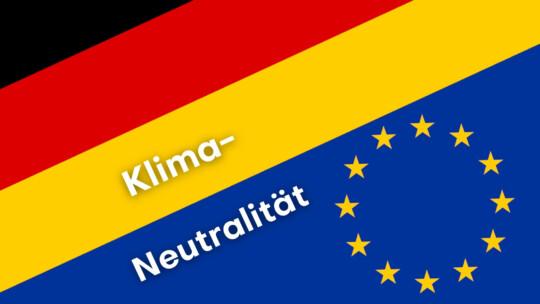 Sybolbild Klimaneutralität EU Deutschland